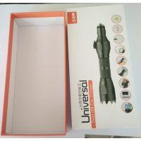 石排供应优质UV印刷纸板手工盒,强光手电包装彩盒