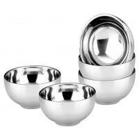 优质品货源特价批发 不锈钢无磁双层碗亮光碗 广告礼品环保餐具
