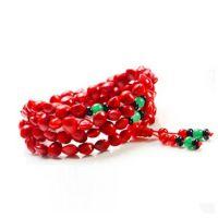 纯天然相思红豆108颗佛珠手链 女款红玛瑙饰品 招财旺夫手串