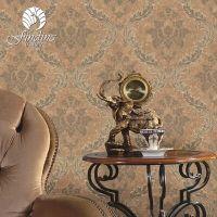 珐兰帝诺墙纸卧室客厅书房壁纸大马士革图案特价部分地区包邮