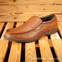 厂新款真皮软底软面男士商务日常休闲皮鞋头层牛皮男鞋批发加工厂