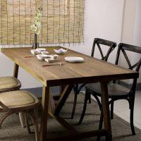 新品推荐 复古长条形餐桌 咖啡厅/酒店/餐厅休闲桌椅海德利定制