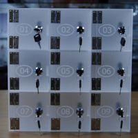 工厂定做KTV包房专用壁挂式亚克力手机保存柜 有机玻璃寄存柜
