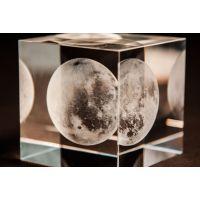 工厂定制水晶玻璃工艺品 正方体3D激光内雕水晶摆件