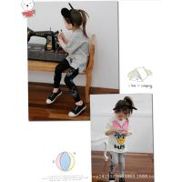 厂家外贸童批xz5155 韩版夏季女童迪士尼卡通短袖2件套P32*5