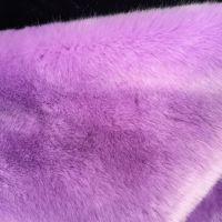高克重人造仿兔狐皮毛布料批发卡耐卡龙人造毛皮服装面料浅紫罗兰