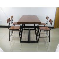 美式复古咖啡厅桌椅套件实木阳台户外酒吧桌椅休闲吧桌椅组合