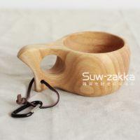 橡胶木单孔杯 出口芬兰KUKSA木杯 酒店用品 日式餐具 餐厅咖啡杯