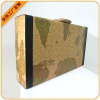新款皮制地图纹6瓶装红酒盒,红酒礼盒(深圳工厂订购)