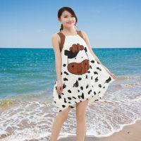 女士莫代尔睡裙 厂家直销 奶牛2015夏季新品 女士时尚吊带睡裙