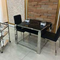 电磁炉餐桌椅组合 简约现代烤漆餐桌 商用长方形火锅台促销