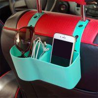 汽车礼品多功能硅胶收纳盒 车载椅背挂式硅胶置物盒