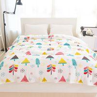 新款天竺棉夏凉被热销全棉针织空调被单双人午休被床单床盖多用被
