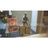 重庆小面连锁店主题人物雕塑玻璃钢店小二雕塑像主题餐厅仿铜雕塑