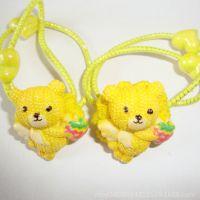 儿童熊猫树脂发束 可爱头绳 草莓皮筋 简单大方款厂家直销