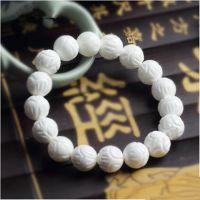 纯天然白砗磲手链 男女款佛珠手串天然水晶首饰饰品