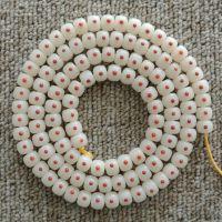 新款白玉菩提根镶嵌南红玛瑙108佛珠手串 绿松石 青金石手链项链