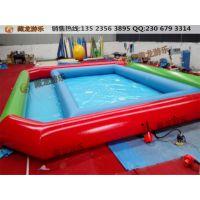 儿童摸鱼池大小规格定做生产,儿童户外大型充气玩具充气水池玩具,PVC材质