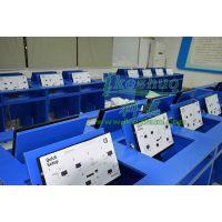东莞松山湖学校翻转电脑桌 显示器翻盖式电脑桌 学生教室课桌板式