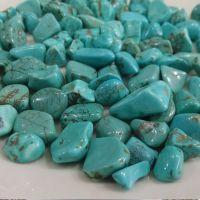 绿松石水晶碎石 加色 东海  佛教七宝  鱼缸装饰 原石