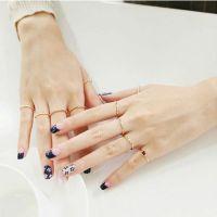 韩国进口饰品 来自星星的你全智贤同款5件套戒指 饰品批发 8024