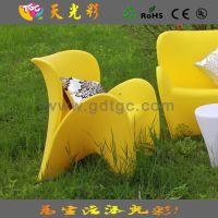 户外花园休闲沙发  商场餐饮店单人沙发 塑胶发光沙发 彩色家具厂