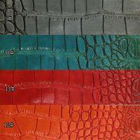 现货鳄鱼纹PU人造革尼罗鳄鱼纹PU皮革