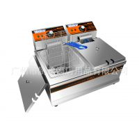 汇利HY-902双缸双筛电热炸炉|电炸炉|电炸锅 薯条炸炉 油炸锅