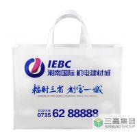 三高制袋供应湘南国际机电建材城丝印手提袋,包装袋批量生产