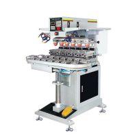 绍兴市移印机厂家东莞优彩200P六色全自动转盘移印机