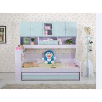 板式双层儿童组合 高低子母床带高箱功能组合睡觉床
