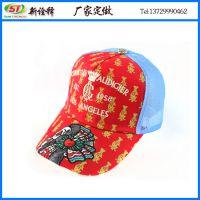 帽子工厂定制 欧美街头户外女士朋克风棒球网帽 纯棉印花鸭舌帽