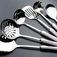 韩式kt新品陶瓷柄不锈钢厨具套装 锅铲七件套厨房用品 烹饪工具