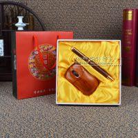 创意红木鼠标套装高端实用酒店周年庆开业商务促销广告礼品定制
