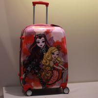 芭比娃娃时尚印花拉杆箱 耐磨 旅行箱 抗摔 行李包 印花皮箱