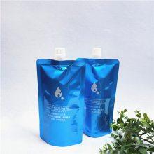 厂家定制款沐浴露自立吸嘴袋 300ML电发水染发剂铝箔包装袋 凹版印刷