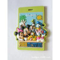 迪士尼行李牌 3D卡通米奇米妮PVC软胶行李牌 动物行李挂牌