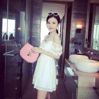 小银子2015夏装新款性感气质蕾丝连衣裙Q4223