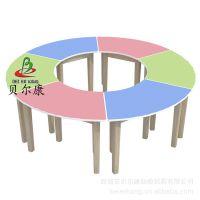 BEK48-CZ14儿童圆形木桌 儿童家具 圆形拼接桌