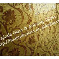 新品上市 精美背景墙玻璃繁荣昌盛