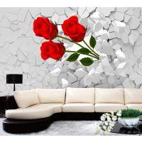 硅酸盖板背景墙图案印刷设备、硅酸钙板客厅电视背景墙UV打印机