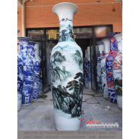 仿古陶瓷大花瓶摆件 家居装饰手绘青花瓷干花落地花插 厂家批发