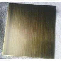 安西不锈钢古铜金板批发 304不锈钢古铜金板