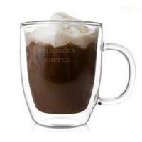现货供应限量版星巴克同款双层耐热玻璃马克杯咖啡杯奶茶杯