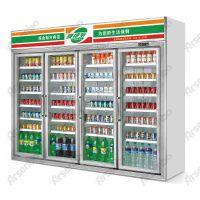 雅绅宝饮料四门冰箱 厂家直销冷藏冷冻柜 四门牛奶展示柜 低温奶保鲜柜