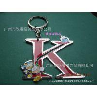 批发字母钥匙链  滴胶精美锁匙扣挂件