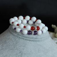 厂家原创复古手饰 天然水晶手链925银 本命年转运红玛瑙手串