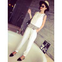 小银子2015夏装新款洋气时尚坳造型拼接连体裤K5347