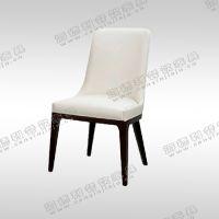 日式全实木餐椅 白色皮制餐椅 矮脚时尚火锅椅 餐桌椅厂家定做批发