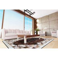 欧叶奢华时尚欧式古典100%正品奶牛皮地毯拼块地垫美式客厅茶几地毯定制